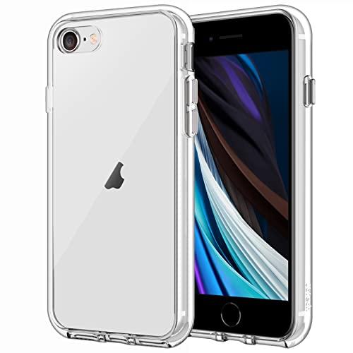 JETech Hülle Kompatibel iPhone SE 2020 (2. Generation), iPhone 8 & iPhone 7, Handyhülle mit Anti-kratzt Transparente & Rückseite (HD Klar)