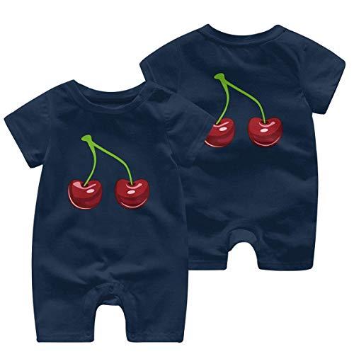 Cherry Combinaison à manches courtes pour bébé 0-24 mois - - 2 ans