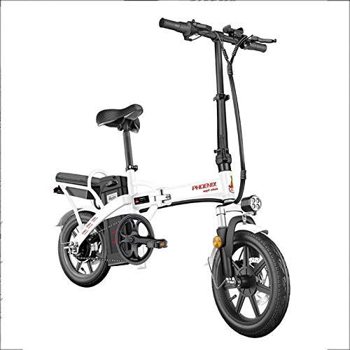 Bicicletas Eléctricas, Bicicletas eléctricas rápidas for adultos de 14 pulgadas conmuta bicicleta eléctrica E-bici Con Motor de inversión, 48V Ciudad de bicicletas Velocidad máxima 25 km / h ,Biciclet