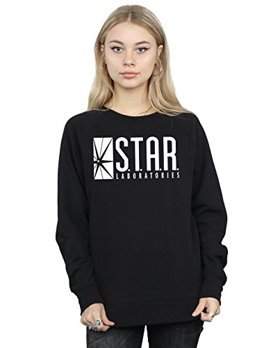 DC Comics Damen The Flash STAR Labs Sweatshirt Large Schwarz
