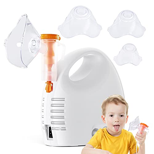 Nebulizer Machine for Adults and Kids with 3 Different Sizes Mask-Compressor Nebulizer for The Breath Problem -Household Steam Inhale Machine