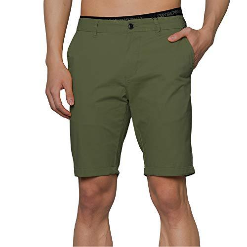 Zedelmaier Herren Kurze Modernhose aus Baumwolle Cuba Chino Shorts Kurze Hose Regular Bermudas Sommerhose Herrenshorts (Grün, 50)