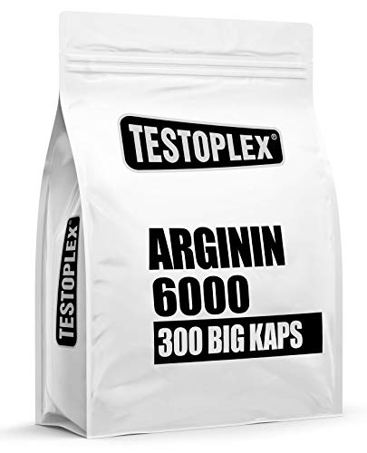 L - Arginin 6000 - pro Portion 6000mg Arginin - pro Kapsel 1000mg Arginin - Kapsel ohne Trennmittel