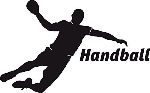 GRAZDesign Wandtattoo Turnhalle Sport - Home Dekoration modern Handball - Walltattoo Wohnzimmer Flur Büro Handball Spieler / 48x30cm / 660160_30_070