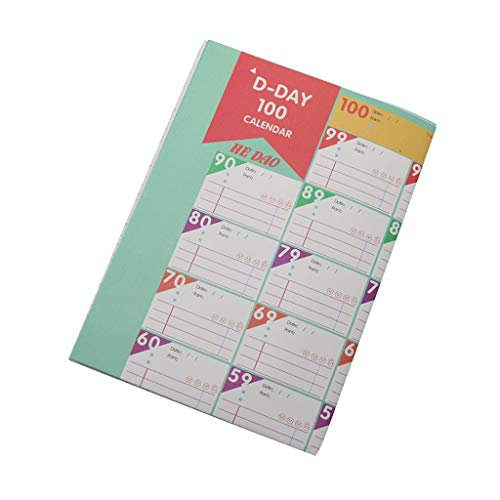 XinYuan Zeitplan Tischkalender 100 Tage Countdown Täglich Wöchentlich Monatlich Kalender Ziel Veranstalter Arbeit Fitness Zeitplan Leben Selbstdisziplin Tabelle 2