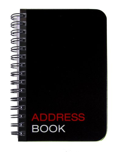 "BookFactory Mini Address Book/Pocket Address Notebook/Small Pocket Sized Address Notebook - 120 Pages - 3 1/2� x 5 1/4"", Durable Thick Translucent Cover, Wire-O Binding (JOU-120-M3CW-A (Address))"