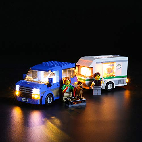 Kit De Iluminación Led para Lego City Furgoneta Y Caravana, Compatible con Ladrillos De Construcción Lego Modelo 60117 (NO Incluido En El Modelo)