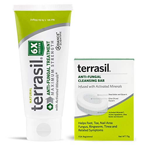 Terrasil Anti-fungal Treatment 50gm Max + Anti-fungal Cleansing Soap (75G) 6X Faster Healing, Natural,...