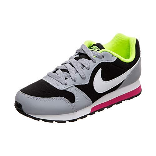 Nike MD Runner 2 (GS), Scarpe da Atletica Leggera Uomo, Multicolore (Black/White/Wolf Grey/Rush Pink 000), 38.5 EU
