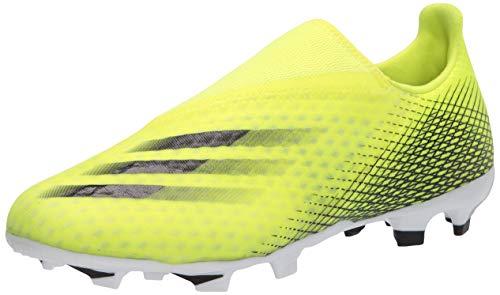 adidas X Ghosted.3 Laceless Firm Ground, Zapatillas de ftbol Hombre, Solar Yellow Black Team Royal Blue, 46 EU