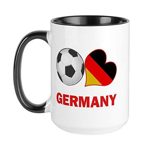 CafePress Kaffeetasse DFB Fan LRG, keramik, Innen weiß/schwarz, Large