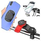 XFSSFWB Dispositivo de Soporte para teléfono de Ciclismo Mountain Cradle, Soporte de vástago de Manillar de teléfono Celular de Bicicleta de Motocicleta Universal, Soporte de navegación de Bicicleta