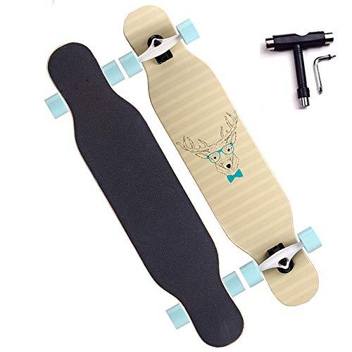 VOMI Adultos Skateboard, Capacidad de Carga Máxima 200kg, Impresión por Transferencia de Calor, Superficie Antideslizante, ABEC 11 Rodamiento, 80A PU Rueda, Adecuado para Principiantes Adolescentes,B
