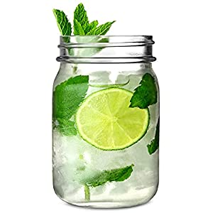 Mason Jar Trinken Trinkgläser 16,5 Unzen / 0.5 Liter – Packung mit 4