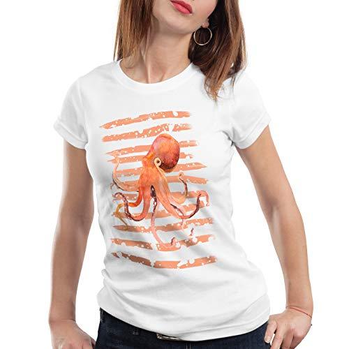 style3 Inked Damen T-Shirt oktopus Octopus tintenfisch Strand Urlaub, Größe:S