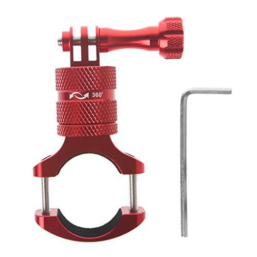Yushu Soporte giratorio de manillar para cámara de acción para GoPro (tubos de diámetro: 1,2-3,0 cm/0,47-1,18 pulgadas)