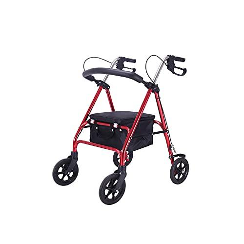 El Andador con Ruedas Puede Empujar el Marco del reposabrazos de la Ayuda para Caminar para Ancianos, Andador, Silla de Movilidad, Carro