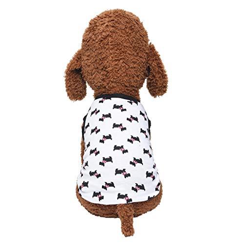 Coversolat Hundeshirt Kleine Hunde T-Shirt Welpen Muster Weste Hundekleidung Sommer Hundebekleidung Hundekostüm