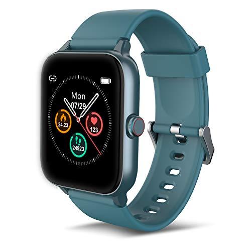 IOWODO R3Pro Smartwatch Donna Uomo Orologio Fitness 1,54   Full Touch Impermeabil IP68 Cardiofrequenzimetro Contapassi Cronometro Activity Tracker Smart watches per Android iOS Verde