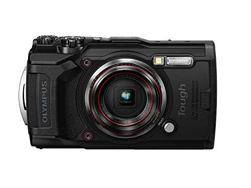 Olympus TG – 6 Black Water Proof Camera, 12 MP, 4X Zoom Lens, LCD Rear Screen