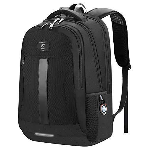 Laptop-Rucksack, Business Travel Anti-Diebstahl 15,6-Zoll-Computer-Rucksack mit USB-Lade-/Kopfhöreranschluss, wasserdichter großer Schulrucksack für Jungen/Männer/Frauen, schwarz