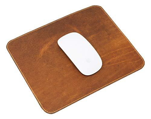 Leather Mouse Pad Natural 20 cm x 25 cm