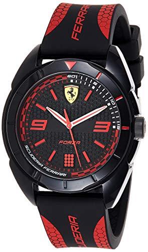 Scuderia Ferrari Reloj Analógico para Hombre de Cuarzo con Correa en Silicona 830515