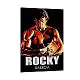 EDCV Rocky Balboa Vintage Con 4 Tele Da Parete Per Ufficio