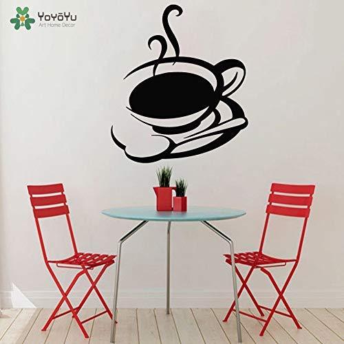 Muursticker Vinyl Art Decal Sticker Keuken Mural Thee Mok Koffie Cup Muursticker Verwijderbare Kamer Poster 42 * 49cm