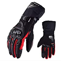 HGOO 夏通気性オートバイの手袋タッチスクリーンguantesバイク保護手袋サイクリングレース冬暖かい手袋