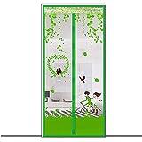 Puerta de Pantalla magnética Anti Mosquitos, Puerta de mosquitera magnética de Cierre automático, Red de protección contra Insectos con cifrado