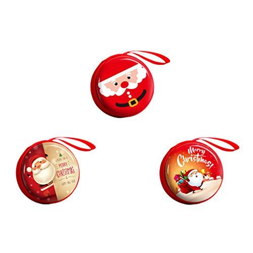 DOITOOL 3pcs Christmas Coin Bag Purse Pocket Box Xmas Tree Gift Box Mini Wallet Bag Christmas Candy Bag for Kids Christmas Tree Hanging Decorations