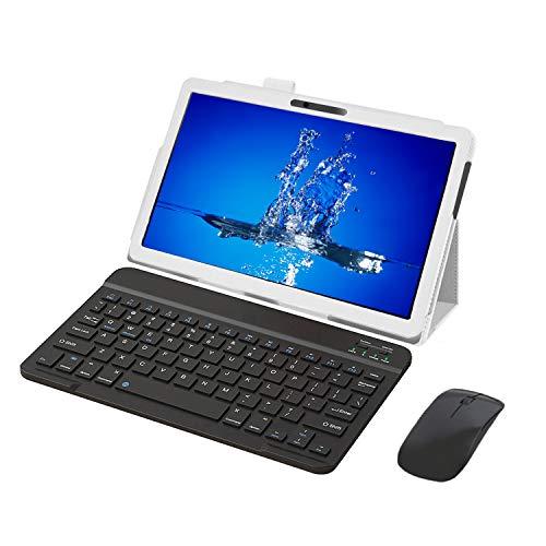 Tableta 10.1 Pulgadas 4G WiFi Android 9.0 Tablets PC 3GB de RAM 32GB de Memoria Interna con Procesador Quad-Core y Doble Ranuras de Tarjeta SIM Doble Cámara, GPS Bluetooth - Gris