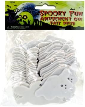 45-Pack Indefinitely sold out Foam Ghosts Craft