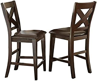 Greyson Living Copley 24-inch Counter Height X-Back Chair by (Set of 2) - 43 inches high x 22 inches deep x 19 inches Wide