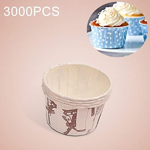 Best Deals! Luoshan 3000 PCS Windmill Pattern Round Lamination Cake Cup Muffin Cases Chocolate Cupca...