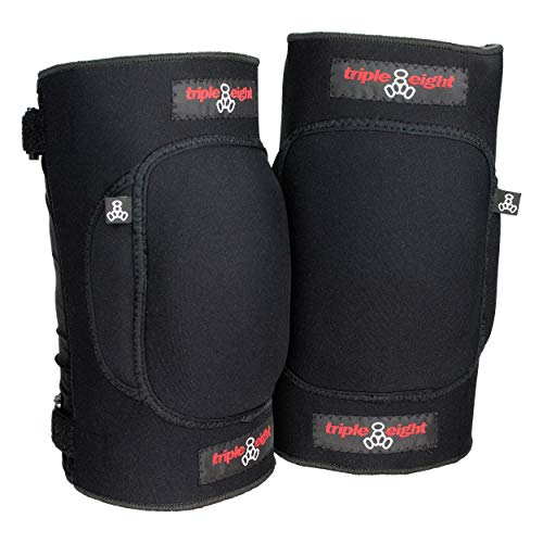 Triple Eight Undercover Snow Knee Pads for Snowboarding and Skiing, Large , Black