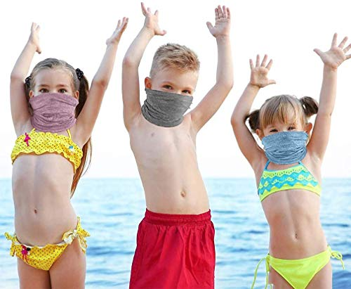 FCNEHLM Cooling Neck Gaiters for Kids, Summer Kids Face Cover, Thin Bandana for 4-16 Year Old Boys Girls Outdoor