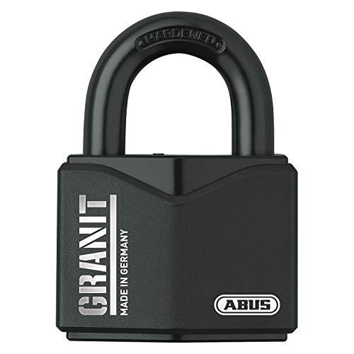ABUS Granit Vorhängeschloss 37/55 aus gehärtetem Spezialstahl - Schlüssel mit LED-Licht - mit ABUS-Plus Scheibenzylinder - 35057 - Level 10 - Schwarz