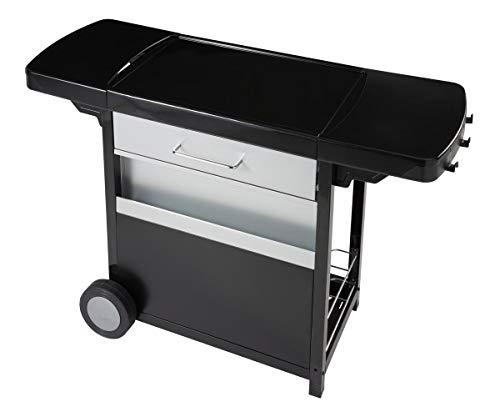 Campingaz Grillwagen für Plancha zum Anbringen, Servierwagen mit Rollen, praktisch für Plancha Blue Flame und Plancha Master Campingaz, Küche im Außenbereich