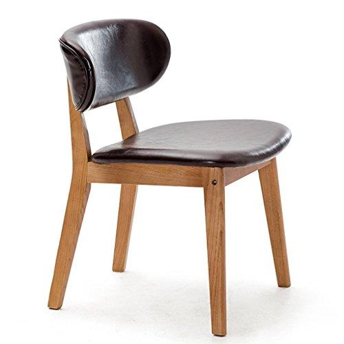Chaise chaise en bois à la maison chaise à manger de mode chaise adulte chaise de salon chaise de salon de bureau confort sédentaire n'est pas fatigué (Size : Dark brown)