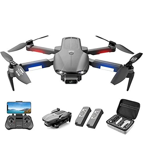 ZYUN Drone con Fotocamera, Fotocamera HD 6k/5G Live Video/Ritorno Automatico GPS/seguimi/Altitude-Hold, Quadricottero RC per Principianti E Professionisti, 2 Batterie 60 Min