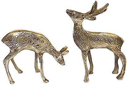 Brass deer statue _image0