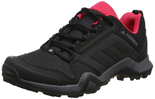 adidas Damen Terrex AX3 W Trekking- & Wanderhalbschuhe, Grau (Carbon/Core Black/Active Pink 0), 39 1/3 EU