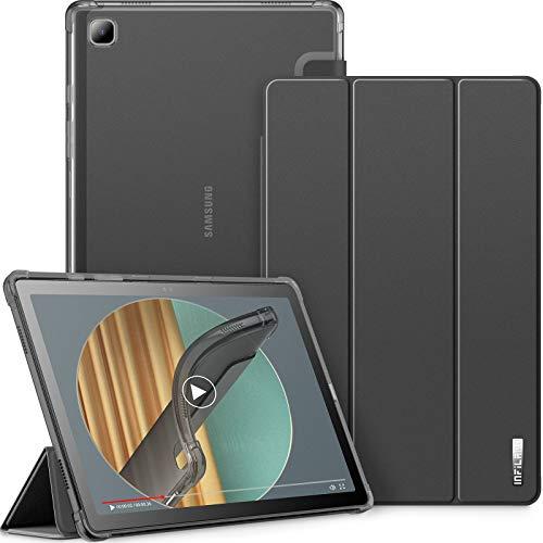 INFILAND Hulle fur Samsung Galaxy Tab A7 2020 Transluzent TPU Schutzhulle Case fur Samsung Galaxy Tab A7 104 Zoll SM T500T505T507 2020 Auto SchlafWachSchwarz