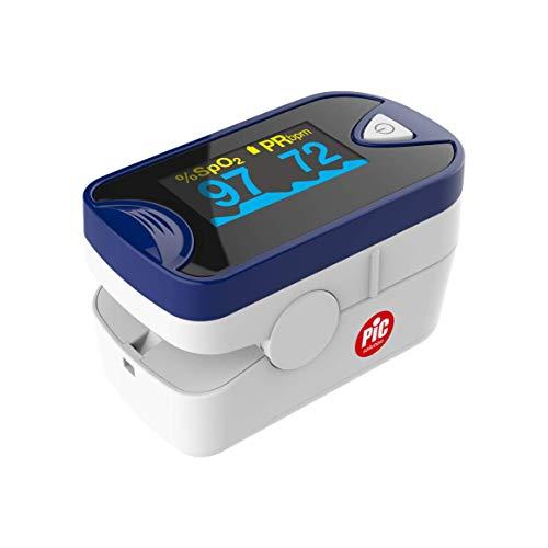 Pic solution Saturimetro Oxygen Test, blu e bianco