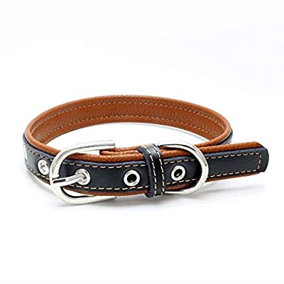 Cliramer Custom Leather Collar,Personalized Eng...