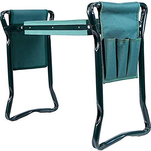 Vtops Garden Kneeler Seat Stool Heavy Duty Folding Bench with Tool Pocket Soft EVA Kneeling Pad for Gardening