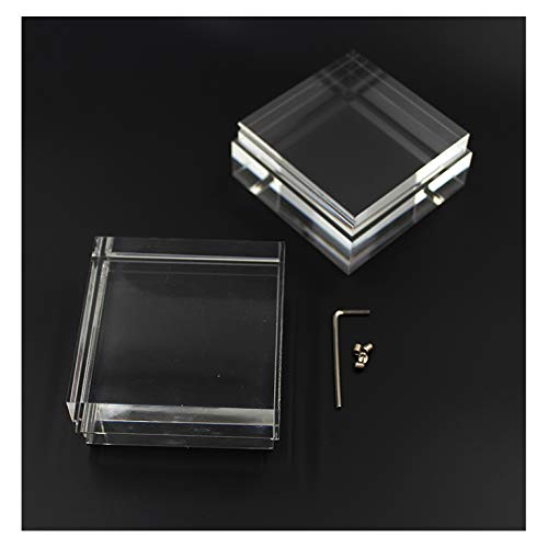 Erweiterungs-Set (2 Stück) Acrylgläser klares Glas 80mm x 80mm für 14W Dekoration Zubehör Wohnzimmer | SpiceLED