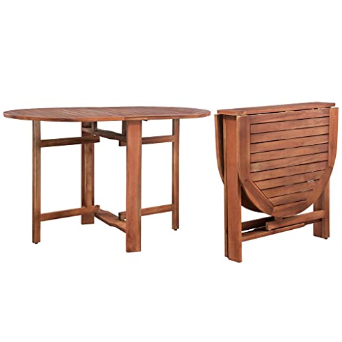 vidaXL Madera de Acacia Maciza Mesa de Jardín Comedor Cocina Patio Terraza Balcón Camping Mobiliario Muebles Soporte Exterior Duradero 120x70x74 cm